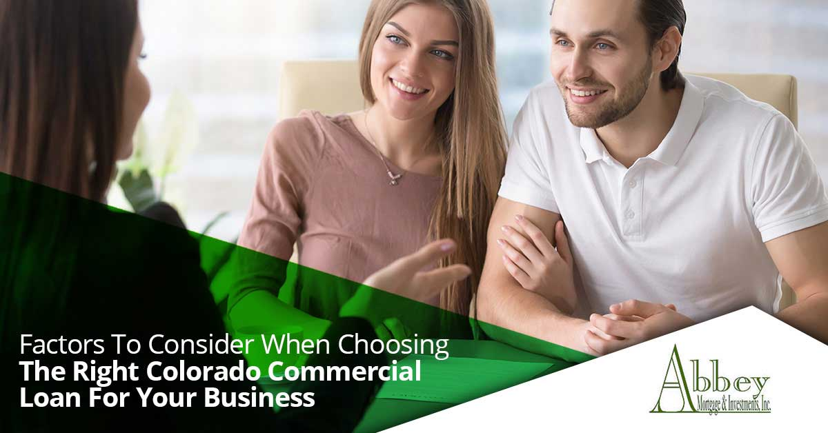 The Right Colorado Commercial Loan