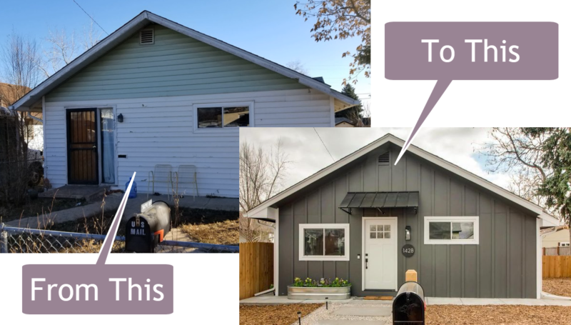 lakewood benton street fix and flip before and after fix and flip private loan funded this fix and flip